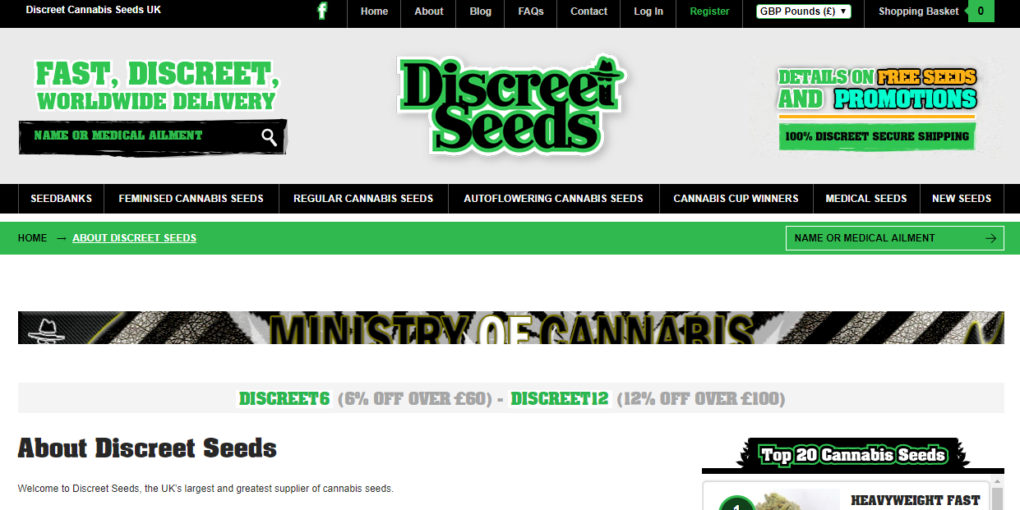 Discreet Seeds Review